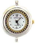 Big Hole Two Tone Beading Watch Face Round